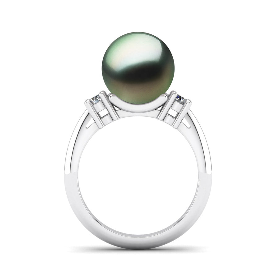 Generations Pearl Ring-Platinum-Tahitian-Green