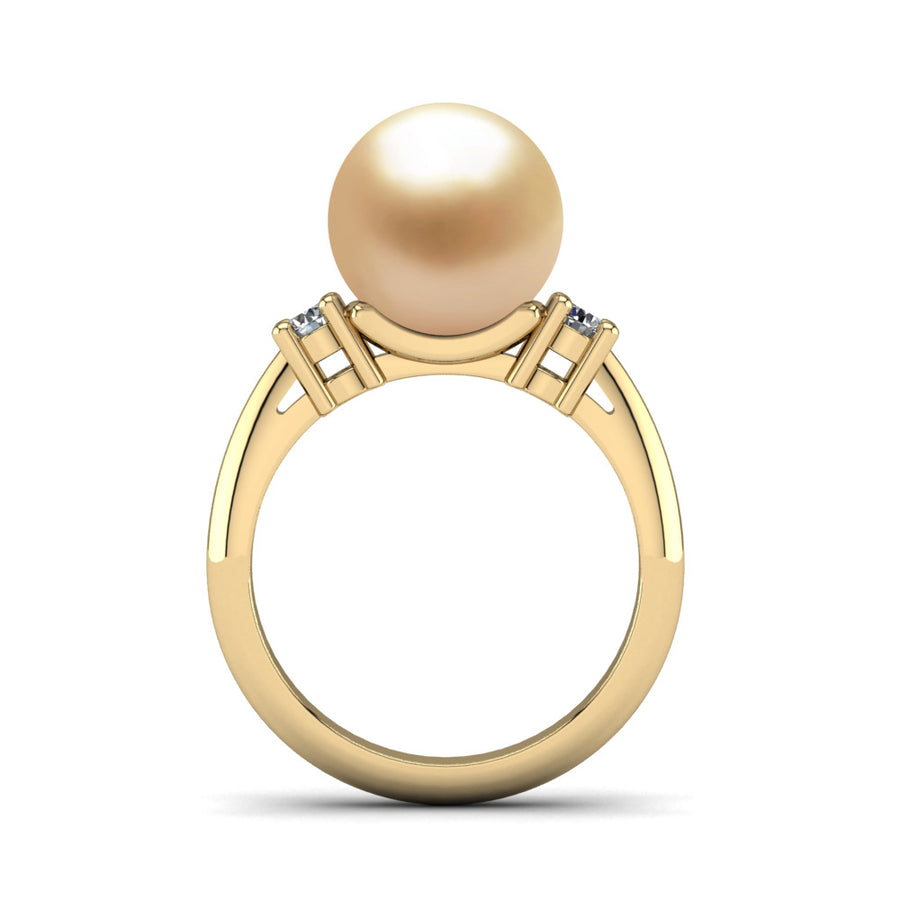 Generations Pearl Ring-18K Yellow Gold-South Sea Golden-Golden