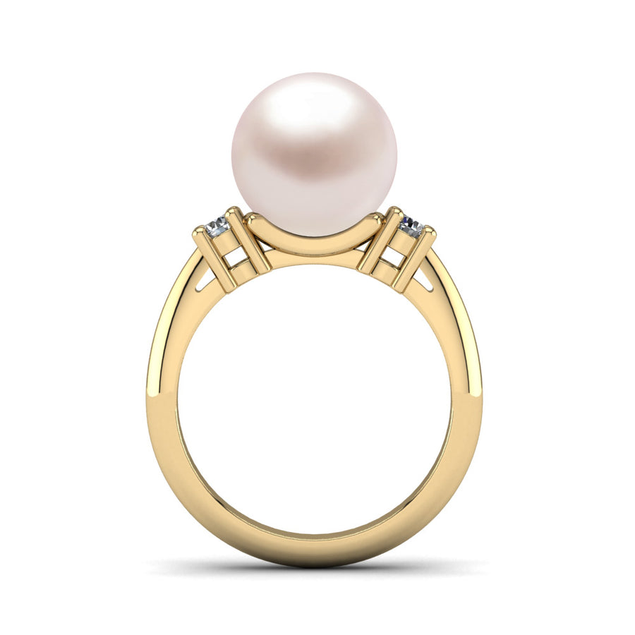 Generations Pearl Ring-18K Yellow Gold-South Sea-South Sea Rose