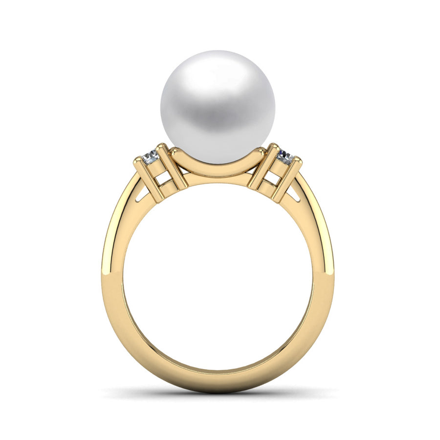 Generations Pearl Ring-18K Yellow Gold-South Sea-South Sea White