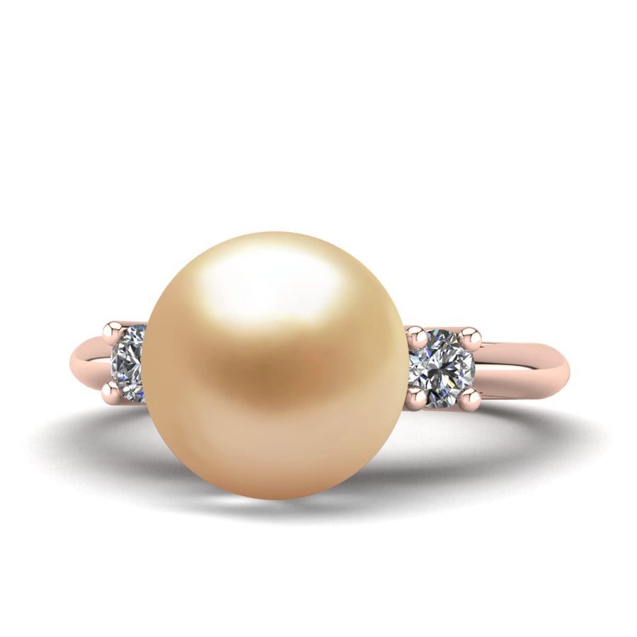 Generations Pearl Ring-18K Rose Gold-South Sea Golden-Golden