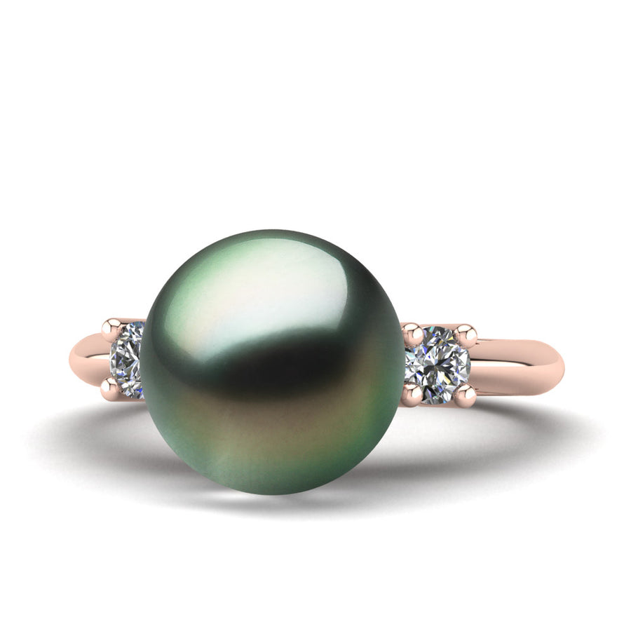 Generations Pearl Ring-18K Rose Gold-Tahitian-Green