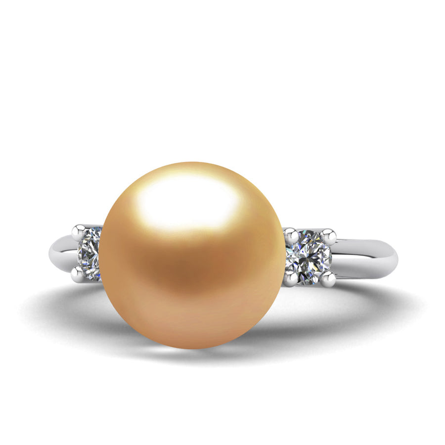 Generations Pearl Ring-Platinum-South Sea Golden-Deep Golden