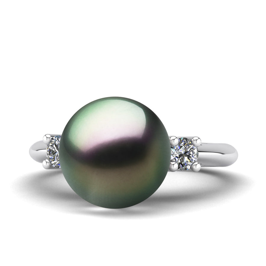 Generations Pearl Ring-Platinum-Tahitian-Peacock