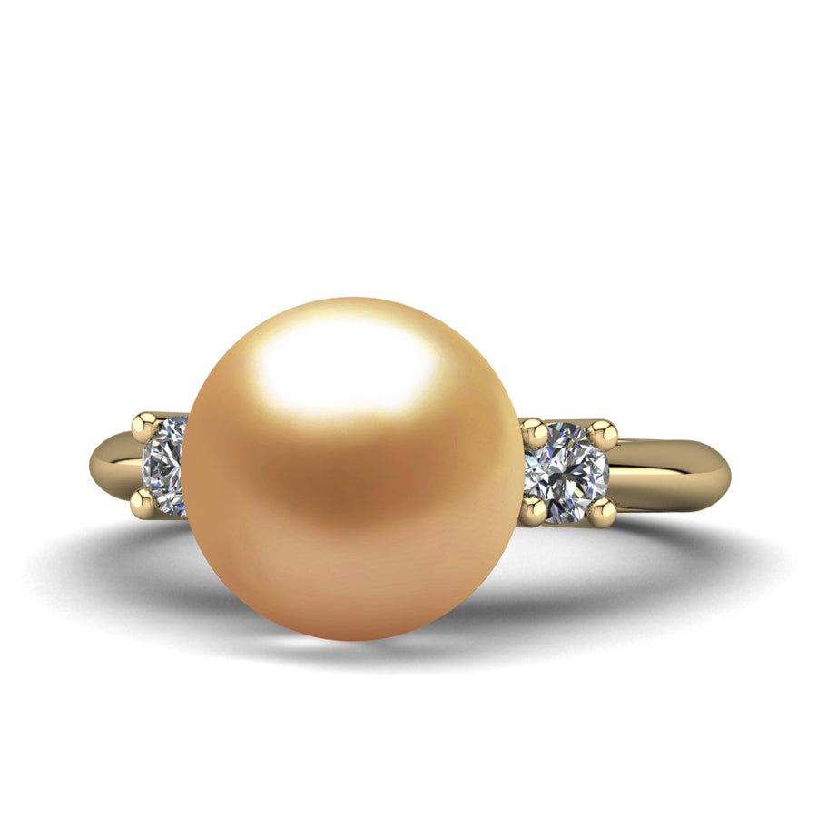 Generations Pearl Ring-18K Yellow Gold-South Sea Golden-Deep Golden