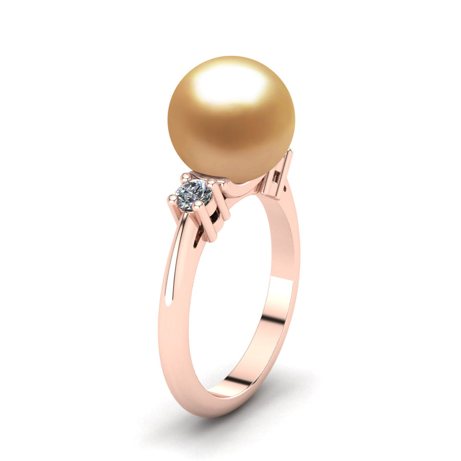 Generations Pearl Ring-18K Rose Gold-South Sea Golden-Deep Golden