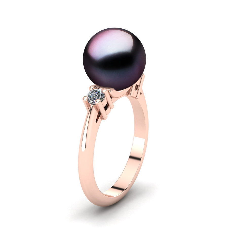 Generations Pearl Ring-18K Rose Gold-Tahitian-Aubergine