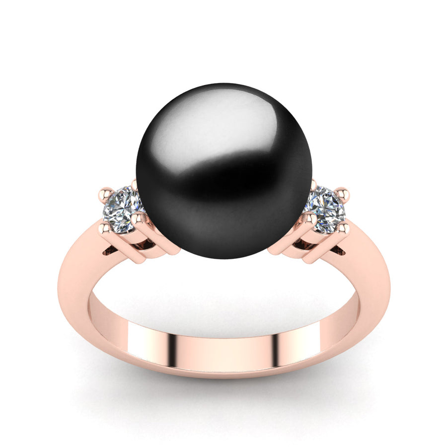 Generations Pearl Ring-18K Rose Gold-Tahitian-Black