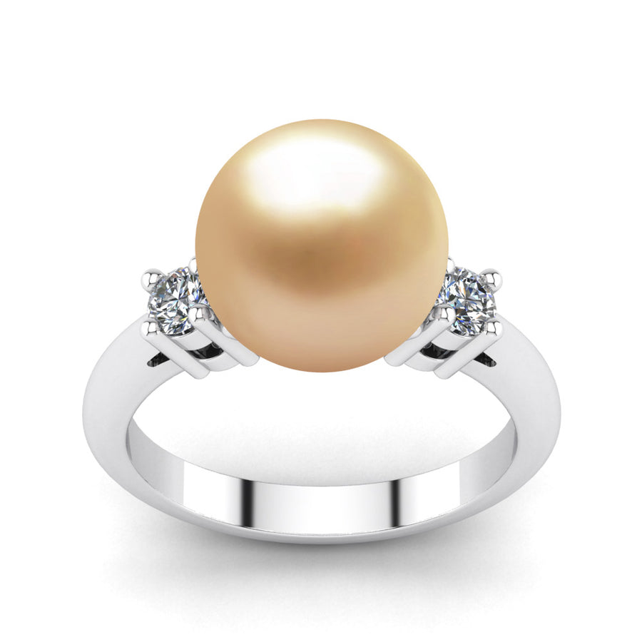Generations Pearl Ring-Platinum-South Sea Golden-Golden