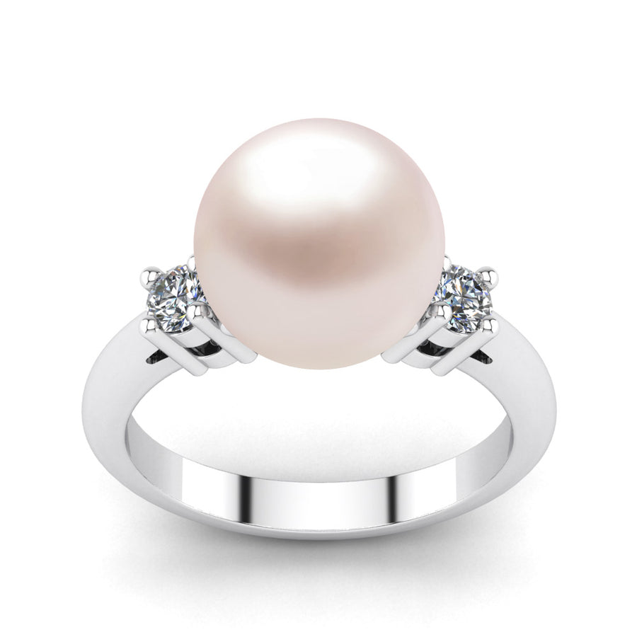 Generations Pearl Ring-Platinum-South Sea-South Sea Rose