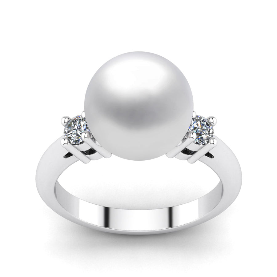 Generations Pearl Ring-Platinum-South Sea-South Sea White