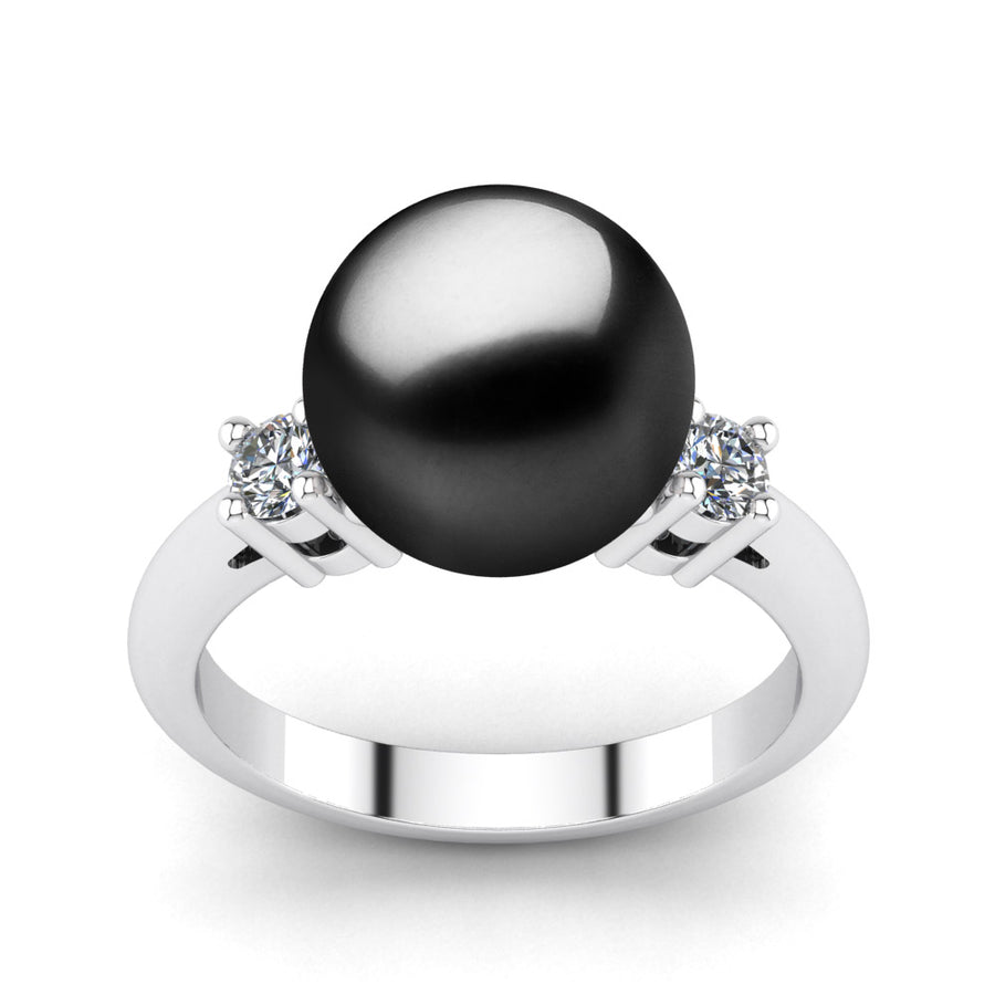 Generations Pearl Ring-Platinum-Tahitian-Black
