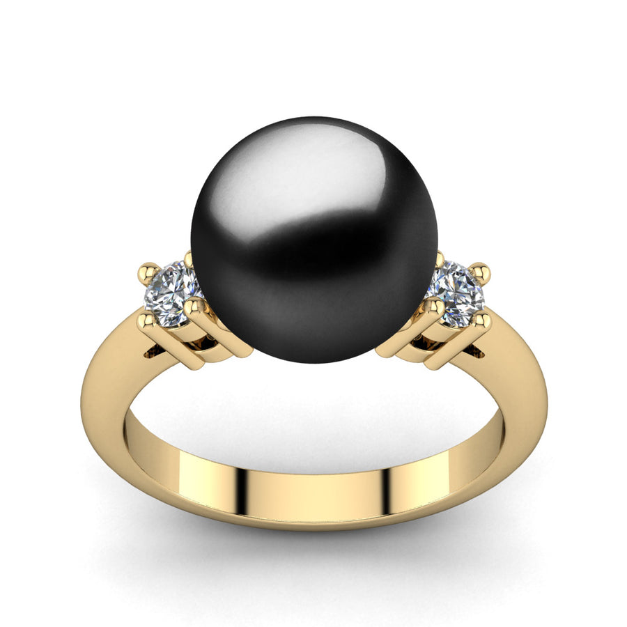 Generations Pearl Ring-18K Yellow Gold-Tahitian-Black