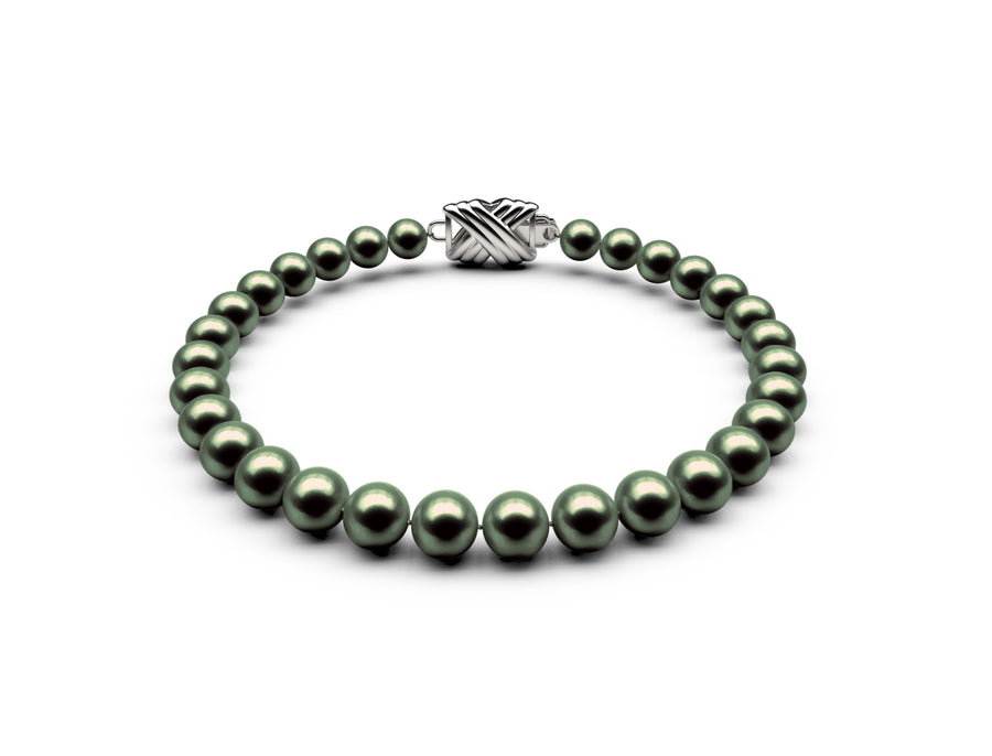 5.5-6mm AA Black-Green Freshwater Bracelet