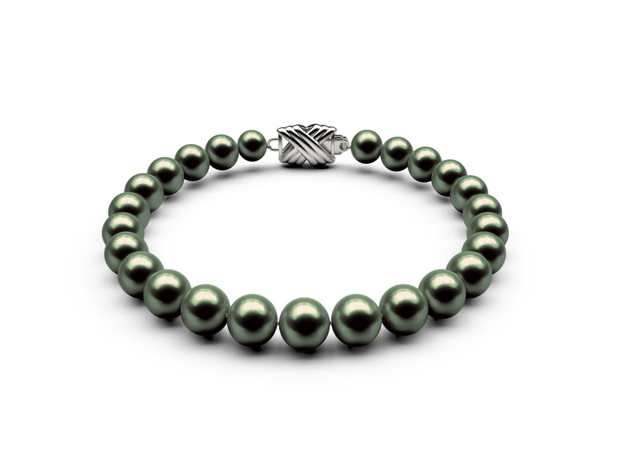 6.5-7mm AAA Black-Green Freshwater Bracelet