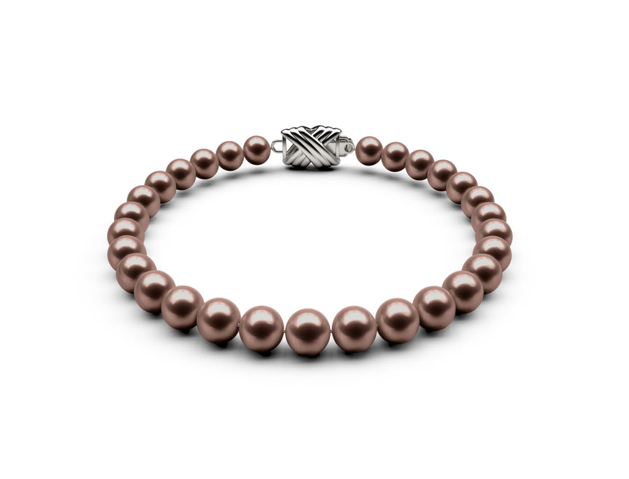 6-6.5mm AA Chocolate Freshwater Bracelet