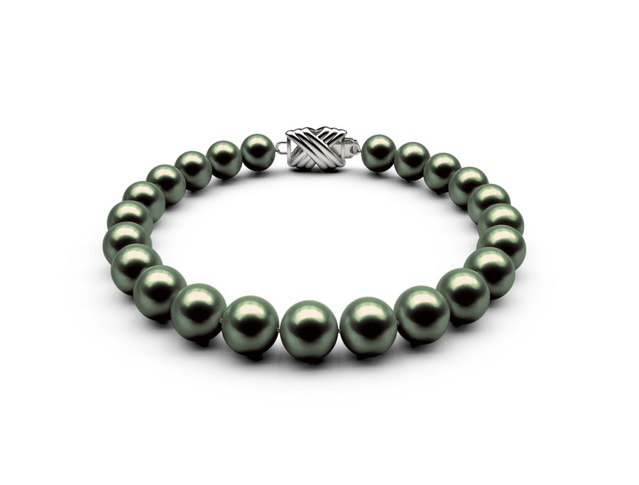7.5-8mm AAA Black-Green Freshwater Bracelet