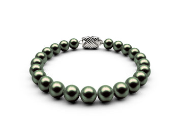 7.5-8mm AA Black-Green Freshwater Bracelet