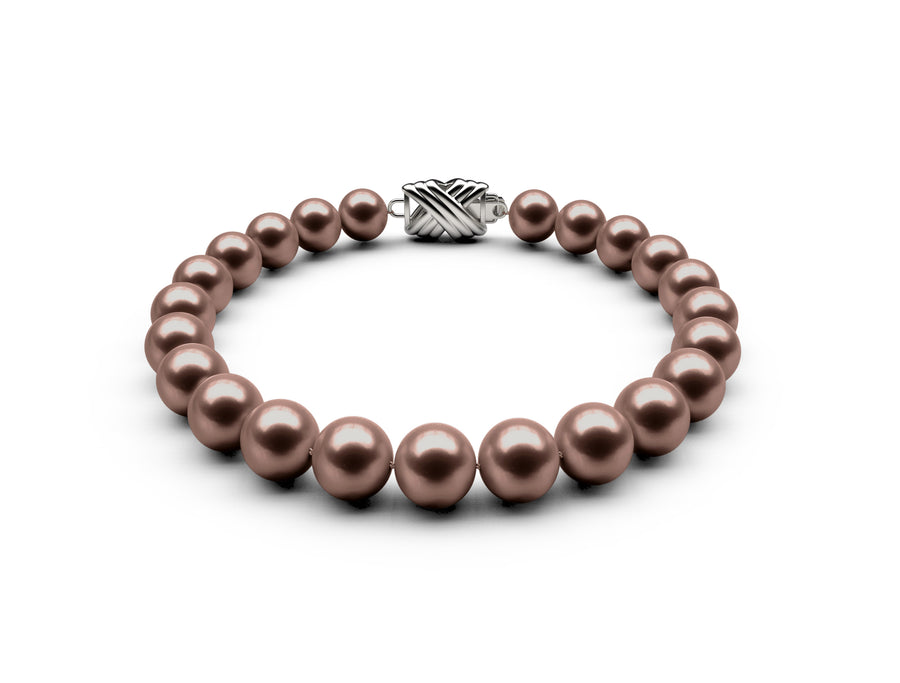 7.5-8mm AA Chocolate Freshwater Bracelet