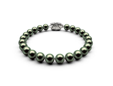 7-7.5mm AA Black-Green Freshwater Bracelet