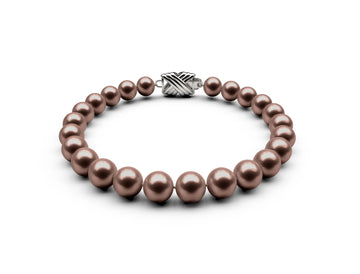 7-7.5mm AA Chocolate Freshwater Bracelet