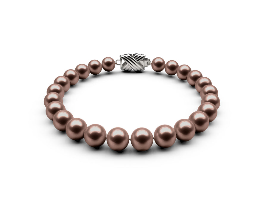 7-7.5mm AAA Chocolate Freshwater Bracelet