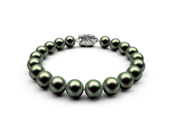8.5-9mm AAA Black-Green Freshwater Bracelet