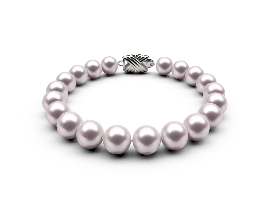 8.5-9mm AAA White Akoya Bracelet