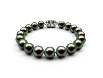 8-8.5mm AA Black-Green Freshwater Bracelet