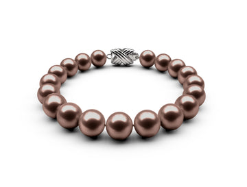 8-8.5mm AA Chocolate Freshwater Bracelet