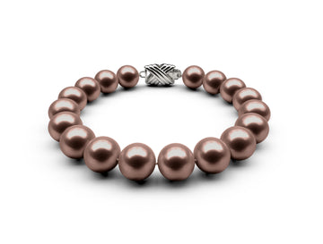 9.5-10mm AAA Chocolate Freshwater Bracelet