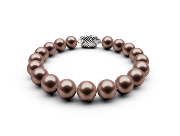 9-9.5mm AA Chocolate Freshwater Bracelet