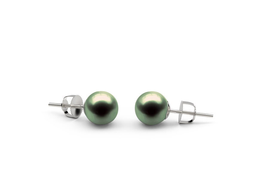 Black-Green Freshwater Earrings