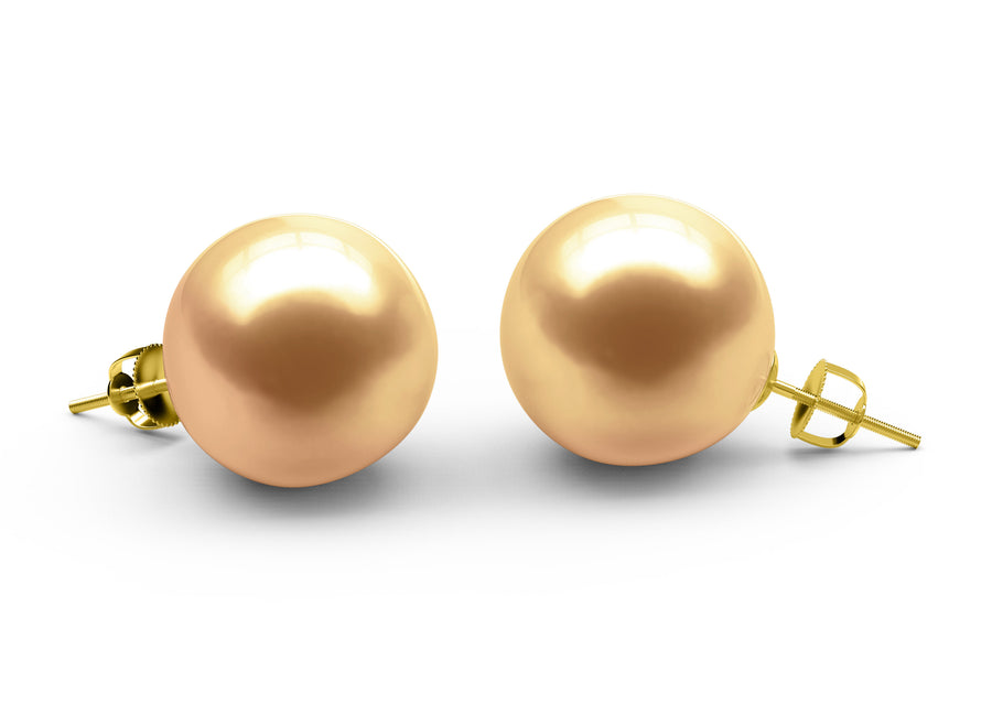 Golden South-Sea-Golden Earrings - AA