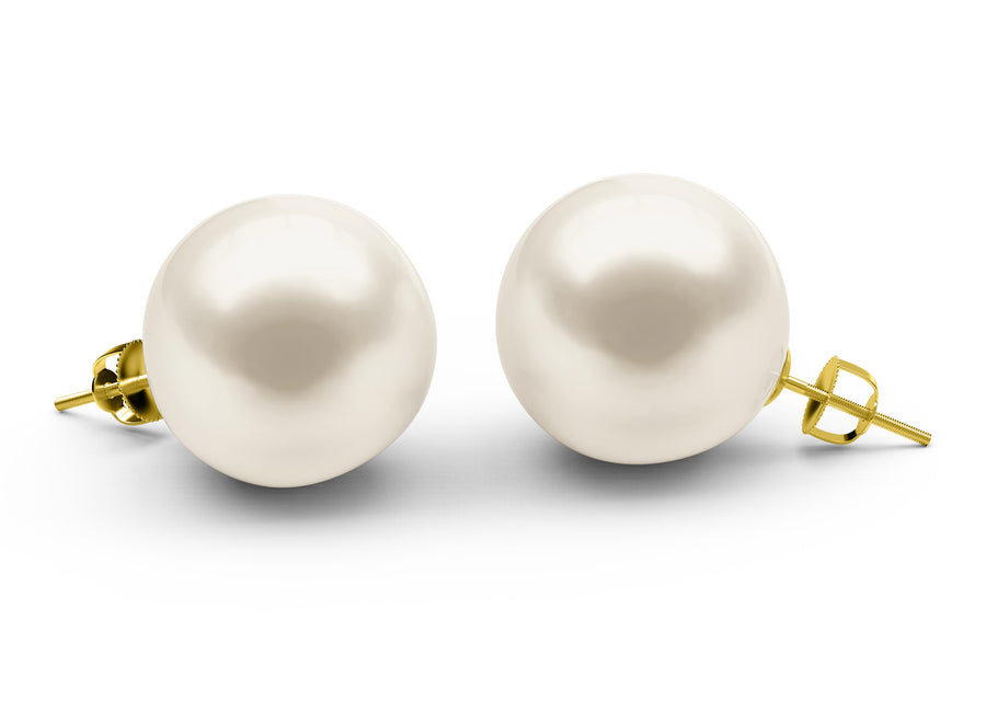 South-Sea-White South-Sea Earrings - AA