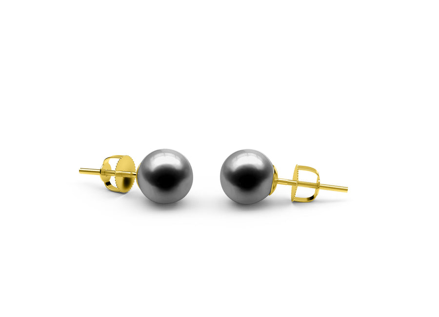 Black Freshwater Earrings