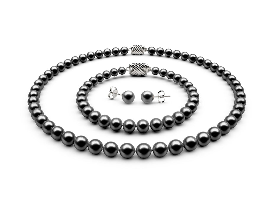 6.5-7mm AAA Black Freshwater Complete Set