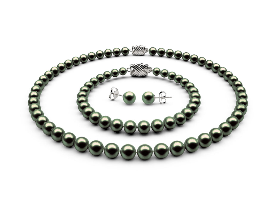 6.5-7mm AAA Black-Green Freshwater Complete Set
