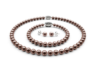 6.5-7mm AAA Chocolate Freshwater Complete Set