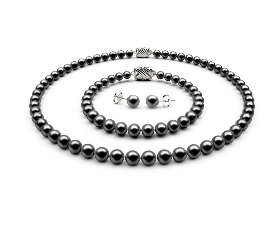 6-6.5mm AAA Black Freshwater Complete Set