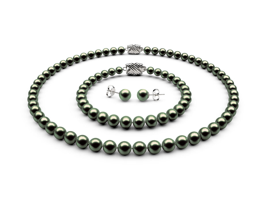6-6.5mm AAA Black-Green Freshwater Complete Set