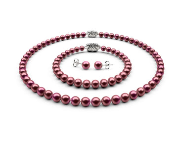 6-6.5mm AA Cranberry Freshwater Complete Set