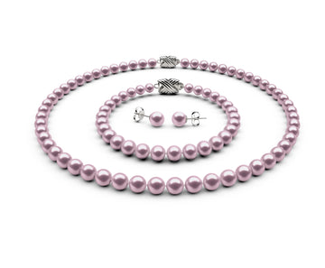 6-6.5mm AA Lavender Freshwater Complete Set