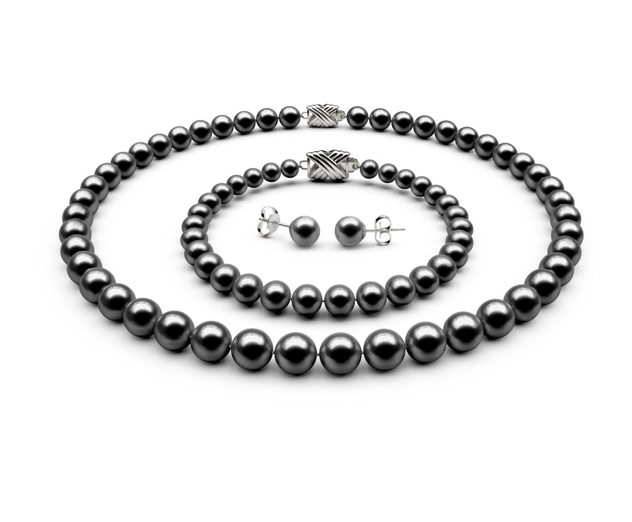 7.5-8mm AAA Black Freshwater Complete Set