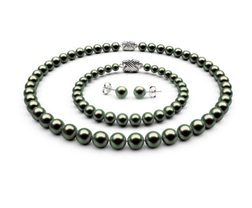 7.5-8mm AAA Black-Green Freshwater Complete Set