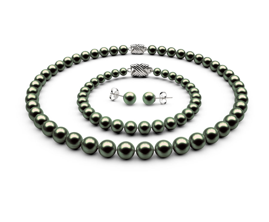 7.5-8mm AA Black-Green Freshwater Complete Set