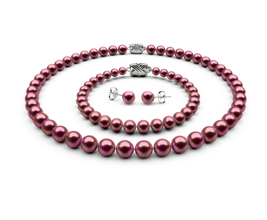 7.5-8mm AA Cranberry Freshwater Complete Set