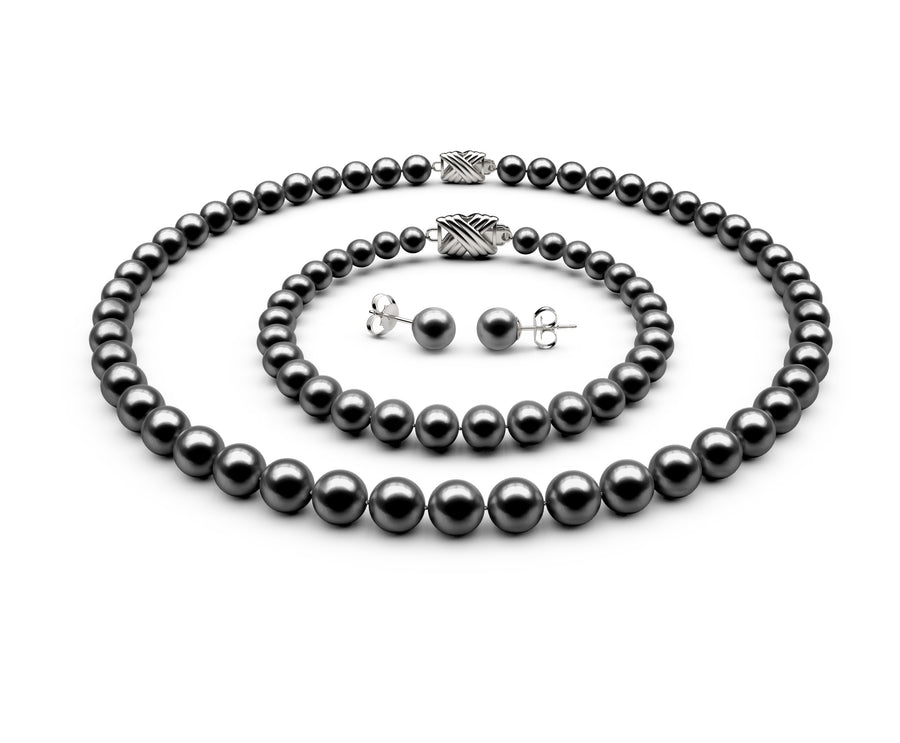 7-7.5mm AAA Black Freshwater Complete Set