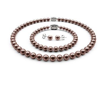 7-7.5mm AA Chocolate Freshwater Complete Set