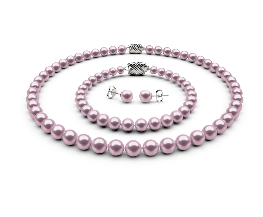 7-7.5mm AAA Lavender Freshwater Complete Set